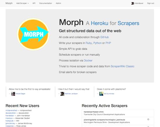 Morph Landing Page