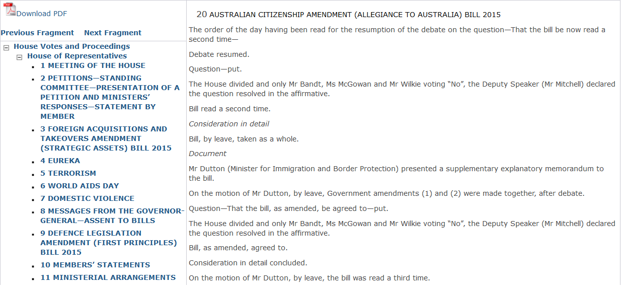 Report Response 3 - The votes